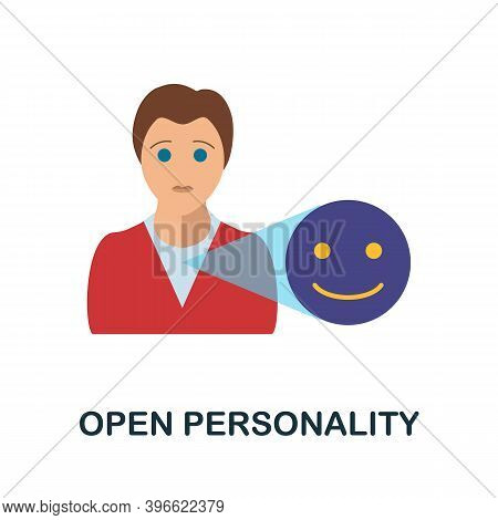 Open Personality Icon. Simple Element From Personality Collection. Creative Open Personality Icon Fo