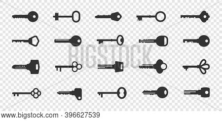 Icons Set Key. Flat Icons Key. Icons Concept. Icons For Web. Vector Illustration