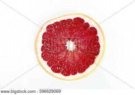 Grapefruit Isolated On White Background. Freshly Harvested Grapefruit. Healthy Fruit Concept
