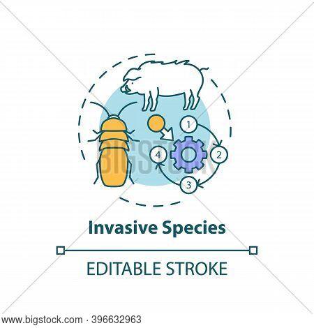 Invasive Species Concept Icon. Ecosystem Preservation. Insects, Animal Population. Wildlife Conserva