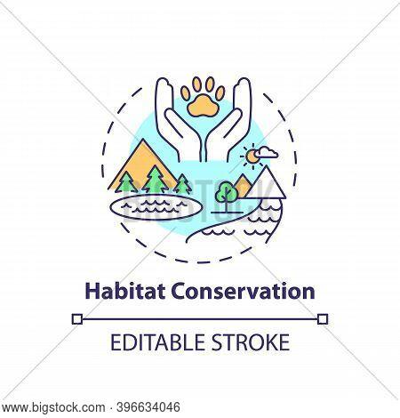 Habitat Conservation Concept Icon. Ecosystem Preservation. Prevent Extinction. Wildlife Conservation
