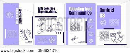 Saving Endangered Species Brochure Template. Poach Prevention. Flyer, Booklet, Leaflet Print, Cover