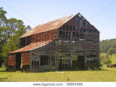 Dilapidated barn has seen better days
