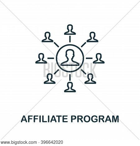 Affiliate Program Icon. Simple Line Element From Affiliate Marketing Collection. Thin Affiliate Prog