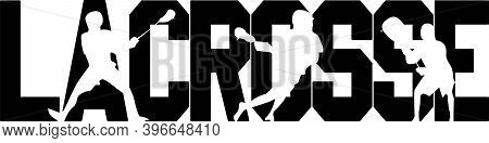 Lacrosse On The White Background. Vector Illustration