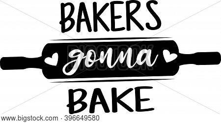 Bakers Gonna Bake On The White Background. Vector Illustration