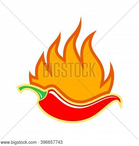 Hot Chilies Spicy Red Chilies Flat Icon Flat Logo Vector Concept Design