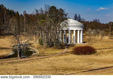 The Catherine Palace Was The Rococo Summer Pavilion Of The Russian Tsars In The Catherine Park. Tsar