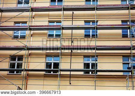building facade renovation, house reconstruction, repair