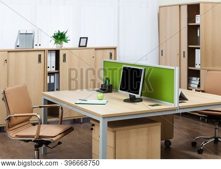beautiful workplaces in a modern office