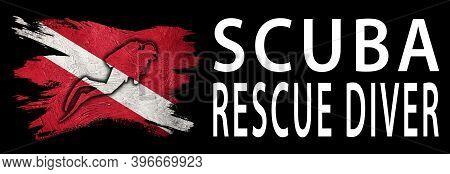Scuba Rescue Diver, Diver Down Flag, Scuba Flag, Scuba Diving