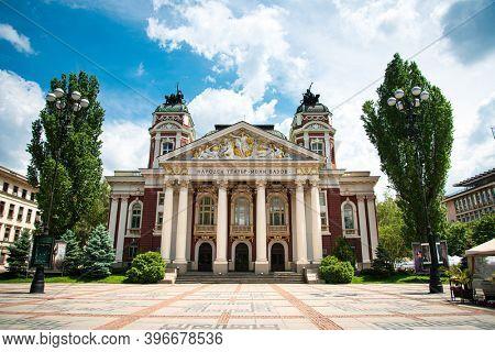 SOFIA, BULGARIA - 24 May 2018: Street view of downtown in Sofia, Bulgaria