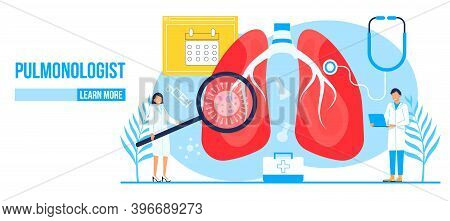 Fluorography Concept Vector. Tuberculosis Specialist Concept Vector. Pulmonary Fibrosis, Tuberculosi