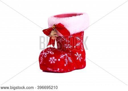 Christmas Shoes On White Background. Clipping Path.