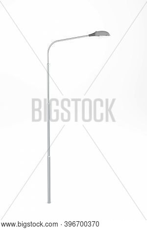 A Street Lamp Isolated On A White Background - 3d Render