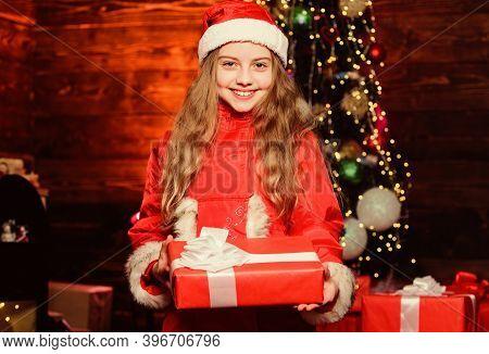 Santa Claus Little Girl. Little Girl In Red Hat. Wait For Santa Claus. Christmas Time. Santa Claus.