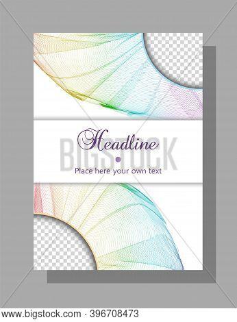 Book, Brochure Cover Design. Vector Template For Catalog, Magazine, Booklet, Portfolio, Leaflet, Pos
