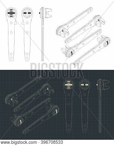 Crescent Rapid Wrench Drawings