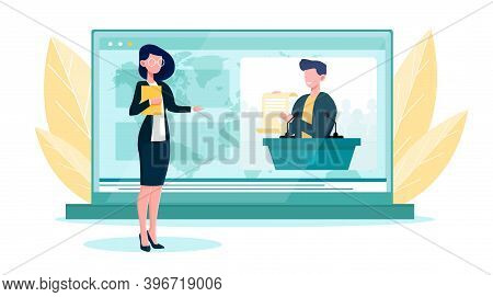 Diplomatic News Online Service Or Platform. Concept Of International Relations And Government. Count