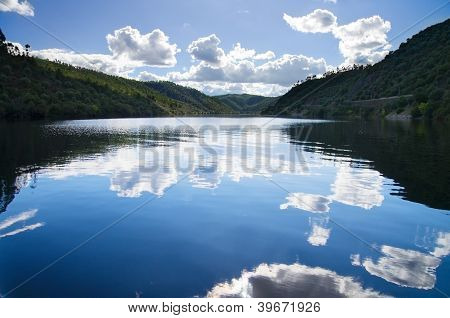 Sky Reflection In River
