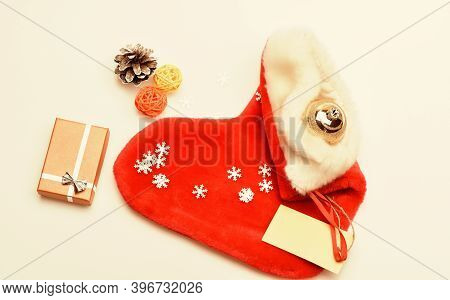 Small Items Stocking Stuffers Or Fillers Little Christmas Gifts. Contents Of Christmas Stocking. Chr