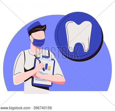 Private Dentistry Abstract Concept Vector Illustration. Private Dental Service, Dentistry Clinic, He