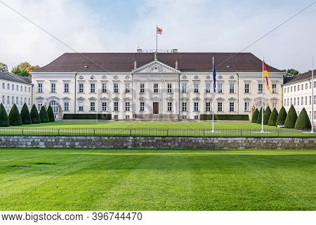 Berlin, Germany - October 20, 2020: Bellevue Palace, The First Neoclassical Building In Germany, The