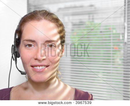 Attractive Receptionist