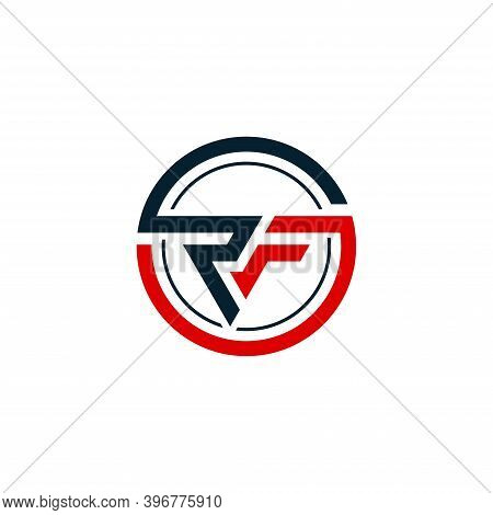 Rf Initial Letters Loop Linked Circle Monogram Logo