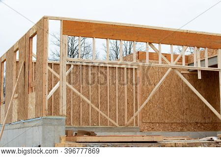 The Frame Is Plywood House Framework Timber