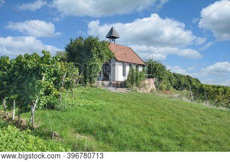 Chapel In Vineyard Named Michaelskapelle In Bad Dürkheim,palatinate,germany