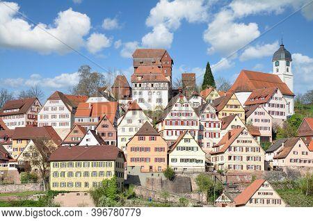 Idyllic Town Of Altensteig In Black Forest,germany