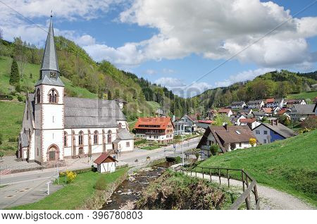 Village Of Bad Peterstal-griesbach In Black Forest,germany