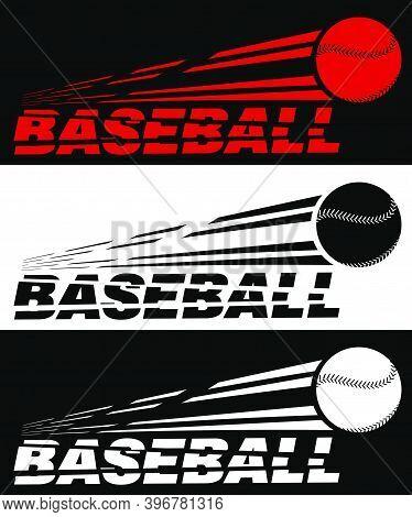 Baseball Lettering Broken By Flying Baseball. Sport Equipment. Team Sports In America. Active Lifest