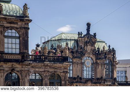 Dresden, Germany - June 05, 2013: Detail Of The Buildings Of The Architectural And Park Ensemble Of