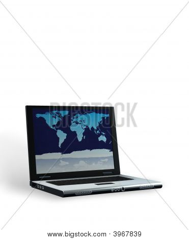 Laptop With Clipping Path