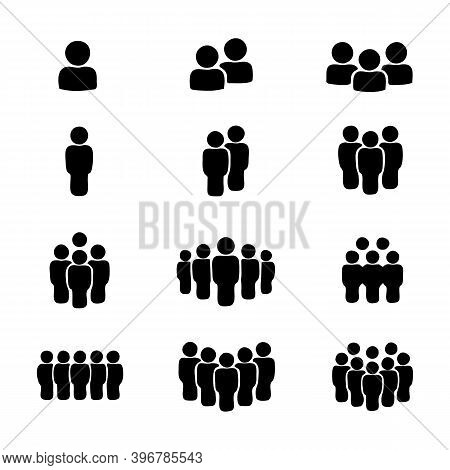 Team Icon Vector Set. Group Of People Icons Isolated On A White Background. Business Team Icons Coll