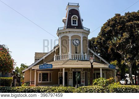 San Diego, America - May 08, 2014:panoramic Landscape Of The Seaport Village In San Diego, Californi