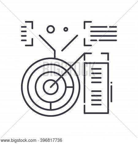 Forecast Analysis Icon, Linear Isolated Illustration, Thin Line Vector, Web Design Sign, Outline Con