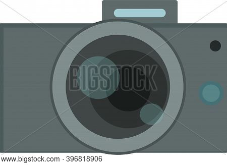 Simplified Camera Vector. Photo Camera Isolated Object.