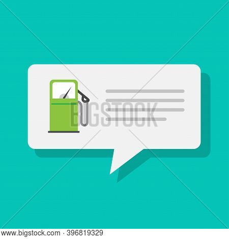 Gas Petrol Fuel Station Refilling Notice Info App Message Vector Flat, Push Notification Icon, Gasol
