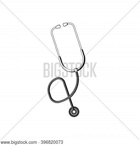 Stethoscope Graphic Icon. Stethoscope Sign Isolated On White Background. Symbol Medicine. Vector Ill