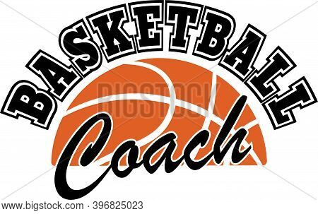 Basketball Coach On The White Background. Vector Illustration
