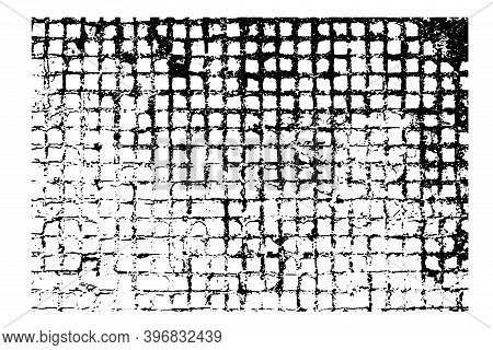 Rectangular Cellular Texture For Your Design. Rough Vector Illustration For Backgrounds Make You Des