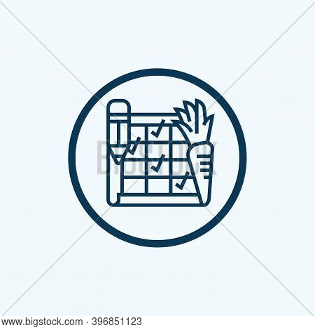 Diet Icon Isolated On White Background From Nutrition Collection. Diet Icon Trendy And Modern Diet S