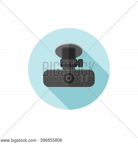 Vector Flat Design Car Dash Cam. Vector Illustration