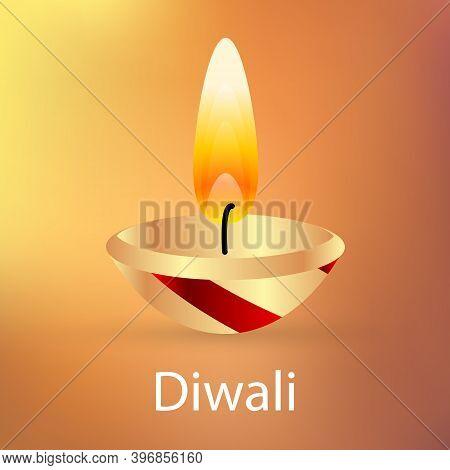 Diwali Festival Banner, Vector Art Illustration Rangoli.
