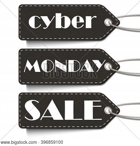 Cyber Monday Sale. Tags Of Cyber Monday Sale Isolated On The White Background. Cyber Monday Sale Vec