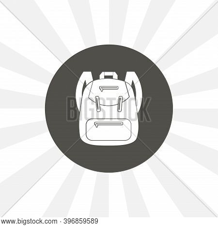 Backpack. Rucksack. Knapsack. Schoolbag. Sack Isolated Vector Icon. Education Design Element