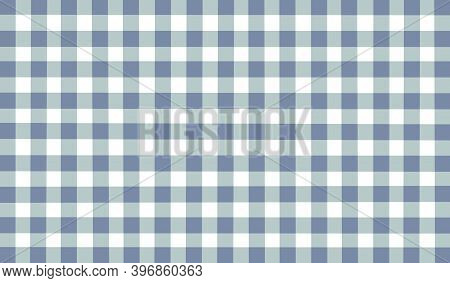 Blue Green White Gray Checkered Background. Space For Graphic Design. Checkered Texture. Classic Che